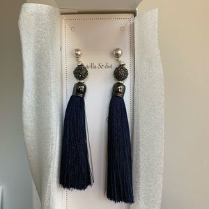 Navy Blue Chandelier earrings. Brand new!